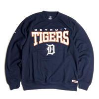MLB Official Detroit Tigers Crewneck Sweat Shirts - Navy