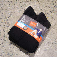HANES 6pairs over the calf crew socks BLACK