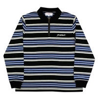 Yardsale Dolores Quarterzip Polo (Black/Navy/Yellow)