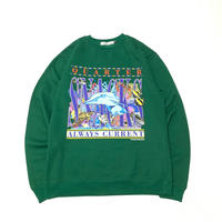 QUARTERSNACKS ALWAYS CURRENT CREWNECK-GREEN