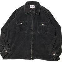 USED NEVADA JEANS WEAR Corduroy Zip Shirts-Black