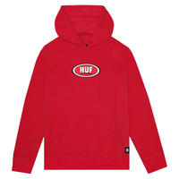 HUF × REAL PULLOVER HOOODIE - RED