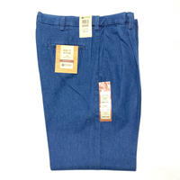 HAGGAR 2-TUCK WORK TO WEEKEND DENIM - STONE WASH