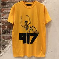 Call Me 917 Skull Tee - Yellow