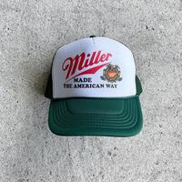 Trucker Hat Miller Beer - Green/White