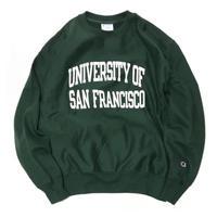 San Francisco University Reverse Weave Crewneck Sweatshirts - Green