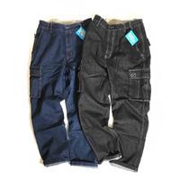 Haband Triple Waist 7Pockets Denim Cargo Pants