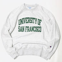 SAN FRANCISCO UNIVERSITY CREW SWEAT-ASH