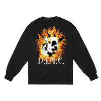DIME FIRE GOAT L/S T-SHIRT - BLACK