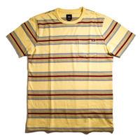 VANS Harrington Stripe Short Sleeve Tee - Yellow