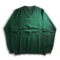 Harriton V-Neck Acrylic Sweater - Green