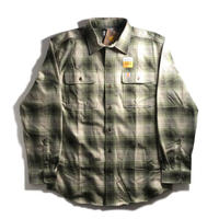 Carhartt Plaid Check L/S Flannel Shirts - Olive
