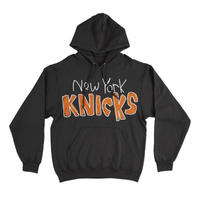 After School Special New York Knicks Applique Pullover Hoodie - Black
