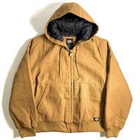 Dickies 10oz Rigid Duck Hooded Jacket - Brown