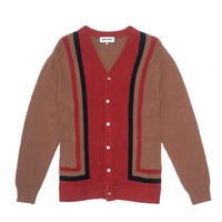 FUCKING AWESOME READER CARDIGAN - BROWN