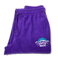 QUARTERSNACKS FLEECE SWEAT PANTS-PURPLE