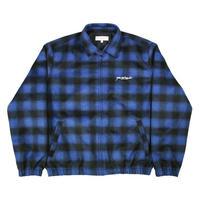 YARDSALE Tartan Harrington Jacket - Blue/Black