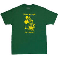 SNACK SKATEBOARDS SEEIN THE SIGHTS TEE-FOREST GREEN
