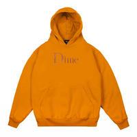Dime Classic Logo Embroidered Hoodie - Orange