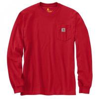 CARHARTT  LONG SLEEVE WORKWEAR POCKET T-SHIRT-Red