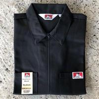 BEN DAVIS 1/2 ZIP WORK SHIRT - BLACK