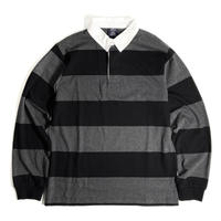 Charles River Apparel Classic Rugby Shirts - Black/Grey