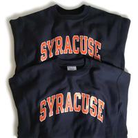 Syracuse University Reverse Weave Crewneck Sweatshirts - Navy