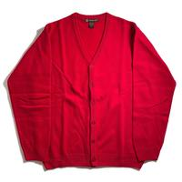 Harriton V-Neck Acrylic Cardigan - Red