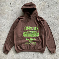 THE DOMINGUEZ CORP SANDWICH HOODIE - BROWN / YELLOW