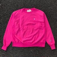 CHAMPION 1 POINT REVERSE WEAVE CREW NECK - PINK
