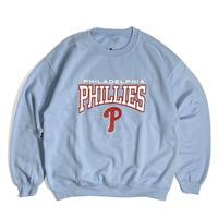 MLB Official Philadelphia Phillies Crewneck Sweat Shirts - Light Blue