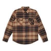 BRIXTON BOWERY  L/S FLANNEL - CREAM/COPPER