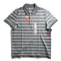 St. John's Bay Stretch Polo Shirt - Black/White Stripe