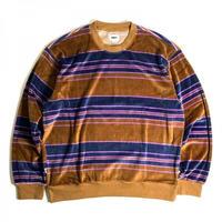 OBEY Ronen Velour Sweat Shirts - Catechu Wood Multi