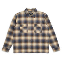BRIXTON ARCHIE L/S FLANNEL - BLUE/BROWN