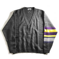 Pop Trading Company Pop Captain Knitted Cardigan - Anthracite