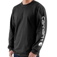 CARHARTT  LONG-SLEEVE GRAPHIC LOGO T-SHIRT-Black