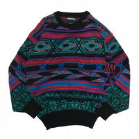 Expressions International Vintage Knitted Sweater - Red