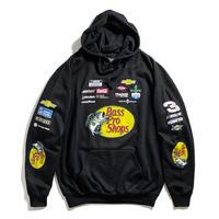 JH Design Nascar Bass Pro Shops Pullover Sweat Hoodie - Black