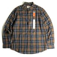 St. John's Bay Classic Fit Flannel Shirts - Olive Plaid