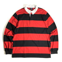 Charles River Apparel Classic Rugby Shirts - Black/Red