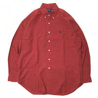 USED Ralph Lauren plaid check Shirts-Red/Navy