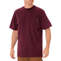 DICKIES Short Sleeve Heavyweight T-Shirt - Burgundy
