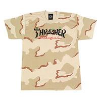 Thrasher Calligraphy Short Sleeve T-Shirts - Desert Camo