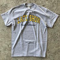 LATE SHOW DAVID LETTERMAN TEE - GREY/YELLOW/NAVY