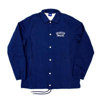 QUARTERSNACKS Canvas Coach Jacket — Navy