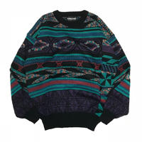 Expressions International Vintage Knitted Sweater - Blue