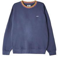 OBEY Verner Argyle Crewneck Sweat Shirts Vintage Blue