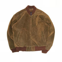 USED POIN TE SUEDE BOMBER JACKET