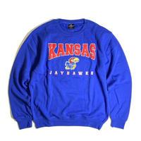 Colosseum Kansas Jayhawks Crewneck Sweat - Blue